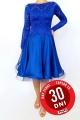 Sukienka turniejowa szafirowa koronkowo szyfonowa