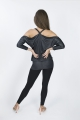 Bluzka sukienka czarna błyszcząca