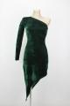 Sukienka STELLA welurowa zieleń, granat, kobalt, czerń