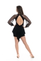 Body ELENA czarne rękawy z siatki
