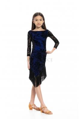 Sukienka OKTAWIA z frędzlami