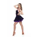 Sukienka turniejowa fioletowo czarna