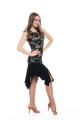 Sukienka LUNA beżowo czarna koronkowa