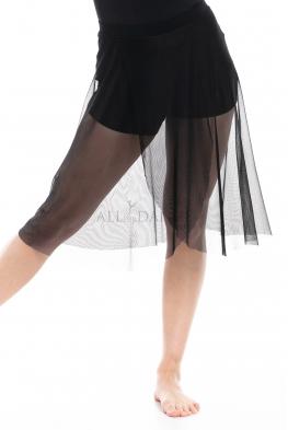 Szorty ze spódnicą z siatki