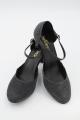 Buty BL118 czarne brokat opalizujący na srebrno