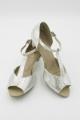 Buty BL33 srebrny brokat