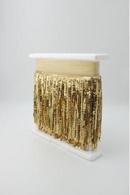 Frędzle taneczne cekinowe złote