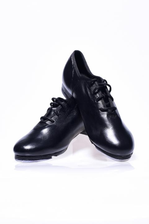 Buty do stepowania T-split czarna skóra